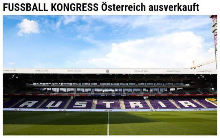 Das war der 10. FUSSBALL KONGRESS Österreich in der Presse