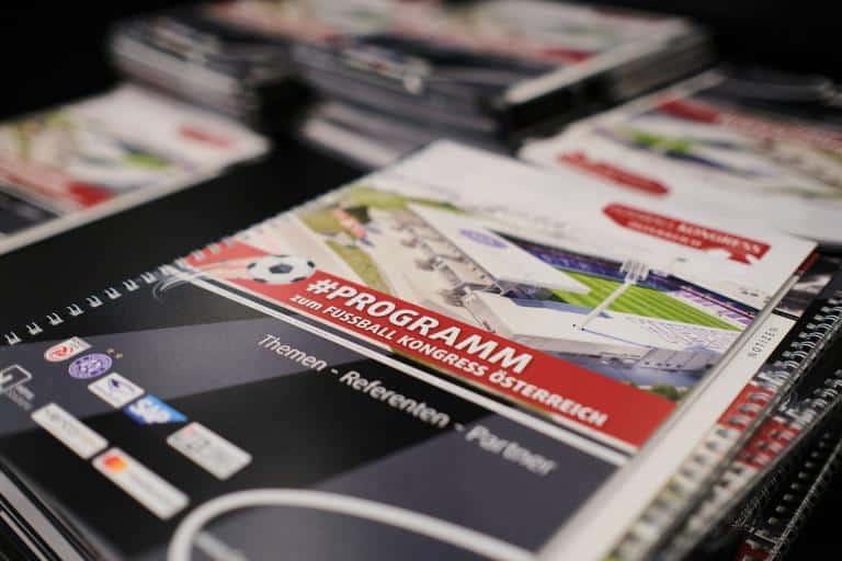 Das offizielle Programmheft zum FUSSBALL KONGRESS Österreich 2020